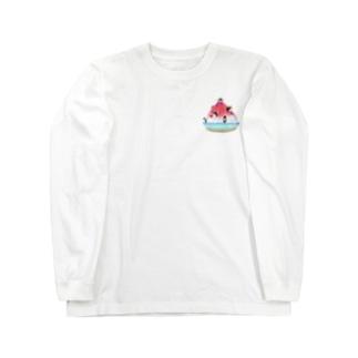 かき氷とペンギンたち② Long Sleeve T-Shirt