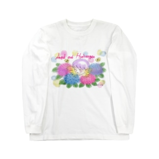 Ang32エンジェルと紫陽花 Long Sleeve T-Shirt