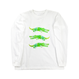 れなしやのPop crocodile Long sleeve T-shirts