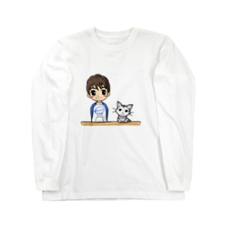 まーちゃんとユキの仲良しグッズ★ Long sleeve T-shirts