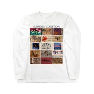 アンティークタグのコラージュ! Long sleeve T-shirts
