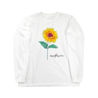 ひまわり Long sleeve T-shirts