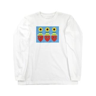 夏いちご2 Long sleeve T-shirts