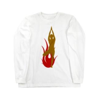 ヨガ Long sleeve T-shirts