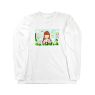 「ピンクダイヤモンドが咲く頃」 Long sleeve T-shirts