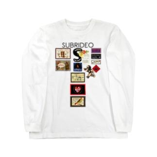 S大文字とテディベア Long sleeve T-shirts