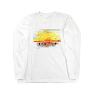 太陽drops -立華 圭グッズショップ-の太陽がすきロングスリーブTシャツ Long sleeve T-shirts