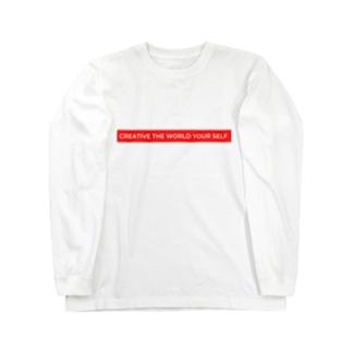 sappori BLOGのcreative the world your self(赤) Long Sleeve T-Shirt