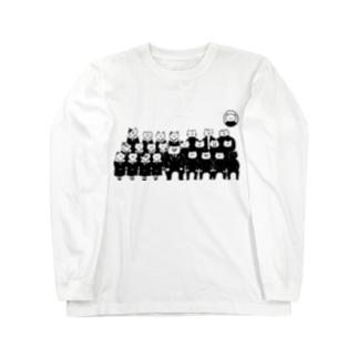 猫 入学式 Long sleeve T-shirts