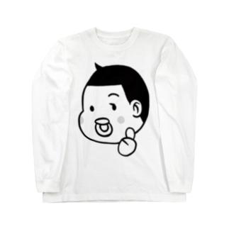 とーちんロゴ(親指グー) Long sleeve T-shirts