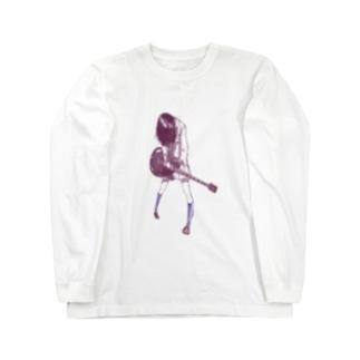 ギターガール013 Long sleeve T-shirts
