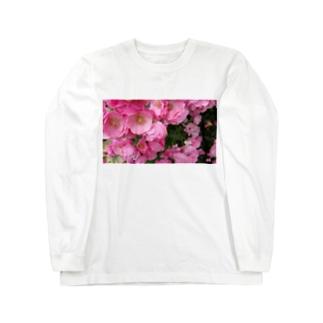 群集う桃薔薇。 Long Sleeve T-Shirt