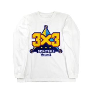 MessagEの3x3 BASKETBALL Long sleeve T-shirts