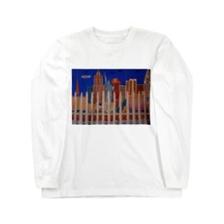 Junie貼り絵グッズのラスベガス Long sleeve T-shirts