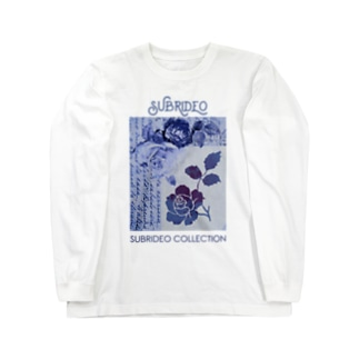 ブルーローズ Long sleeve T-shirts