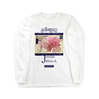 薔薇の花束 Long sleeve T-shirts
