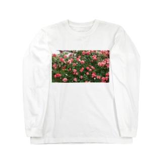 群れ薔薇 Long sleeve T-shirts