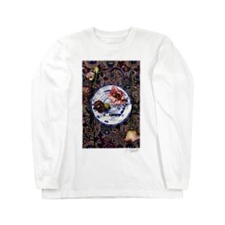 円のコンポジション Long sleeve T-shirts