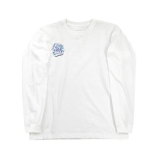 虹色のバラ Long sleeve T-shirts