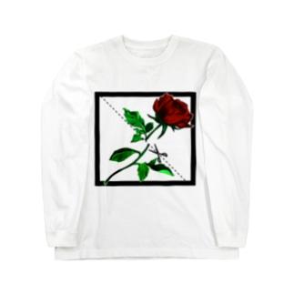 切り華 バラバラになるバラ Long sleeve T-shirts