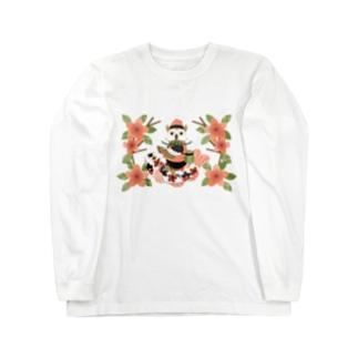 梟と鯉/An owl and a carp Long sleeve T-shirts