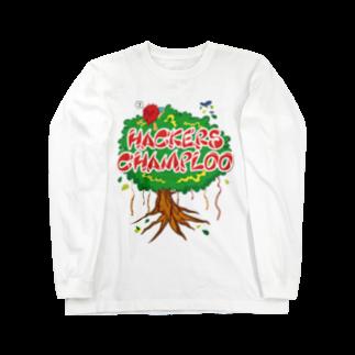 ハッカーズチャンプルーのハッカーズチャンプルー ガジュマル Long sleeve T-shirts