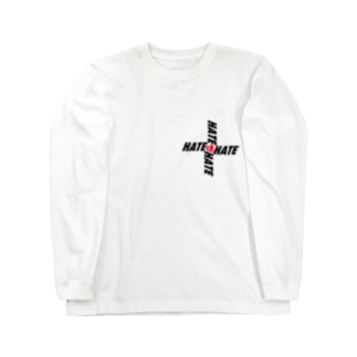 HATE=嫌 Long sleeve T-shirts