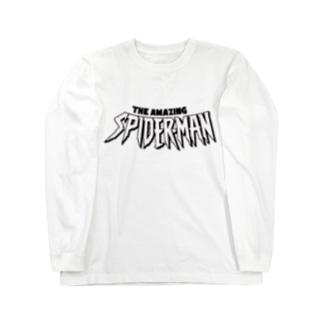 スパイダーロゴ Long sleeve T-shirts