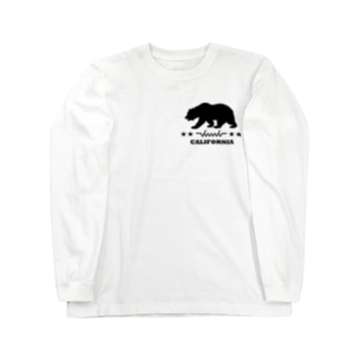 dacci カリフォルニアベアー(黒) Long sleeve T-shirts
