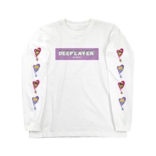 DEEP LAYER box logo Long sleeve T-shirts