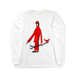 とりと散歩道 Long sleeve T-shirts