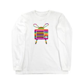 likedislikeのカラフルテレビ Long sleeve T-shirts