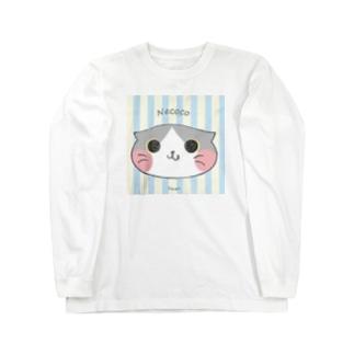 ねここ(すこてぃっしゅ) 猫 Long sleeve T-shirts