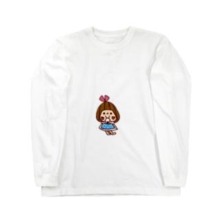 おにぎり大好きぴんきーりぼんちゃん Long sleeve T-shirts