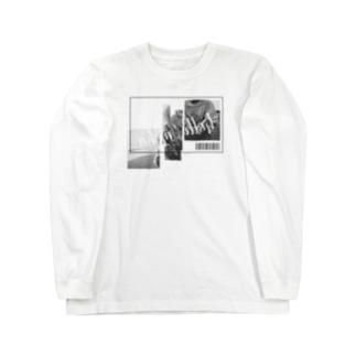 maka【FENNEL】のロングスリーブTシャツ(白) Long sleeve T-shirts