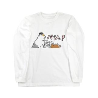 大人気⭐️パシッ柄 Long sleeve T-shirts