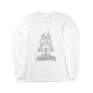 ロボット(ブラック) Long sleeve T-shirts