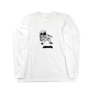 宇宙でスケートボード Long sleeve T-shirts