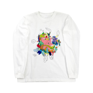 モクモクモク〜 Long sleeve T-shirts