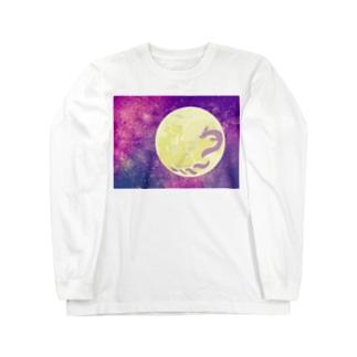 龍がツキを呼ぶ!!DRAGOMOON Long sleeve T-shirts