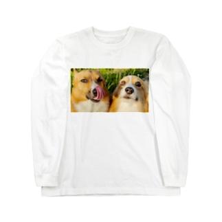 ちい むう ととろ Chi Mu Totoroのヤリキレナイ コーギー Long Sleeve T-Shirt