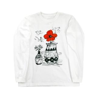 銭谷 耕大の太陽の花 Long sleeve T-shirts