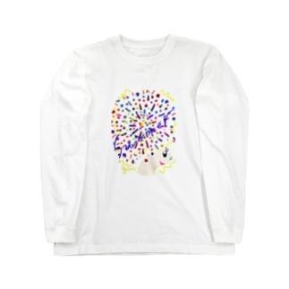 アフロちゃん花火 Long sleeve T-shirts