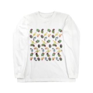 まめるりはことりのたっぷりウロコインコちゃん【まめるりはことり】 Long Sleeve T-Shirt