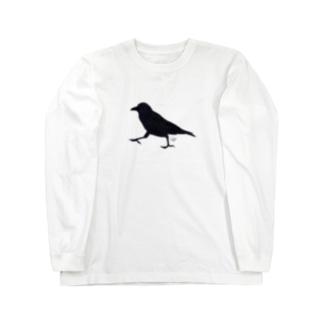 カラス Long sleeve T-shirts