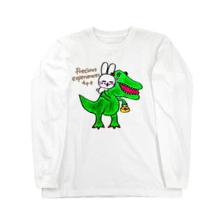 恐竜とSENWARAUSASUPERの物語シリーズ!第3弾 Long sleeve T-shirts