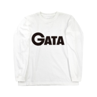 GATAロゴ【黒】 Long sleeve T-shirts