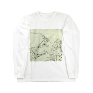 鳥獣人物戯画 Long sleeve T-shirts