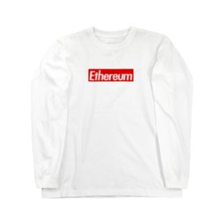 Ethereum ストリート定番の赤に白抜き Long sleeve T-shirts