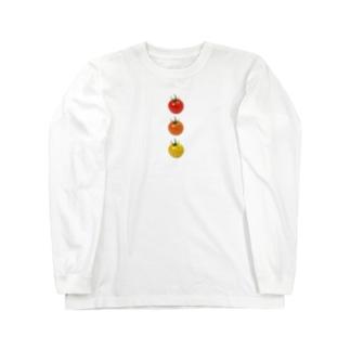 ミニトマト3兄弟 Long sleeve T-shirts